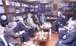 دیدار میهمانان همایش بحران های جهان اسلام با سرلشکر رحیم صفوی