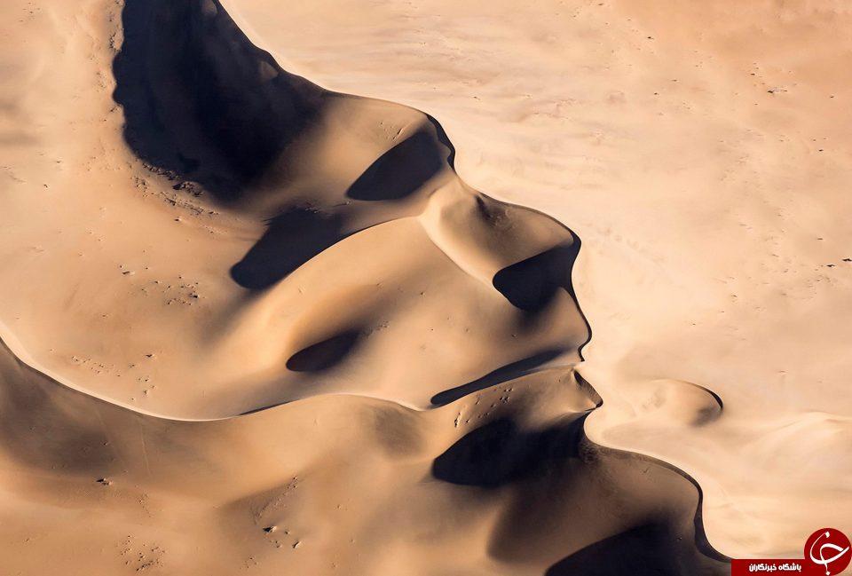 تصویر خیالی جالب شبیه نیم رخ انسان در بیابان+تصاویر