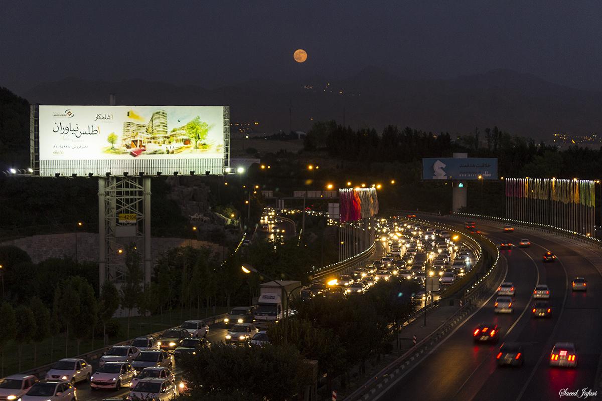 ابرماه از زاویه آسمان ایران+تصاویر