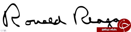 عکس/ مقایسه امضای دونالد ترامپ و ۱۰ رئیسجمهور اخیر آمریکا