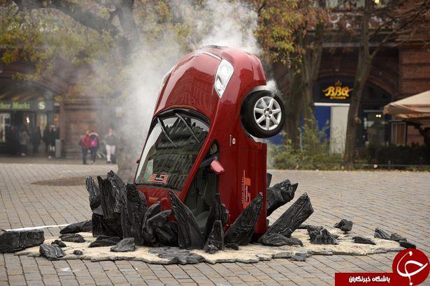 تصادف های ساختگی+ تصاویر
