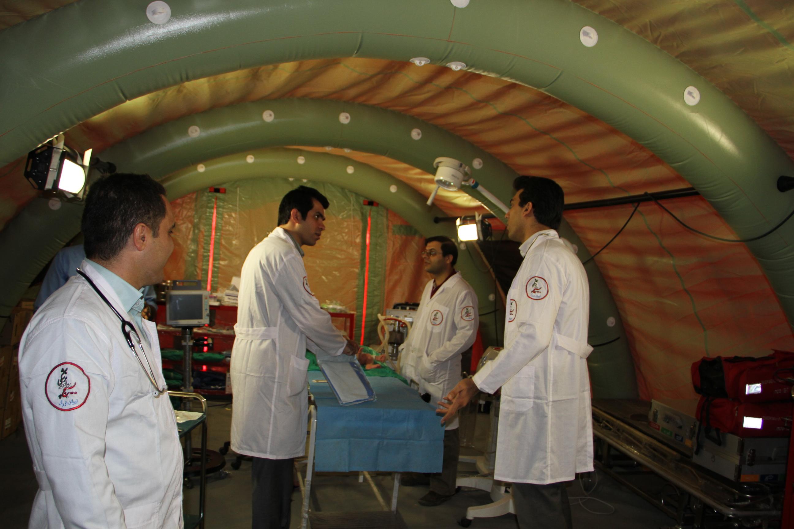 وضعیت بیمارستان های صحرایی در اربعین حسینی/ اوضاع درمانی زائران خوب است