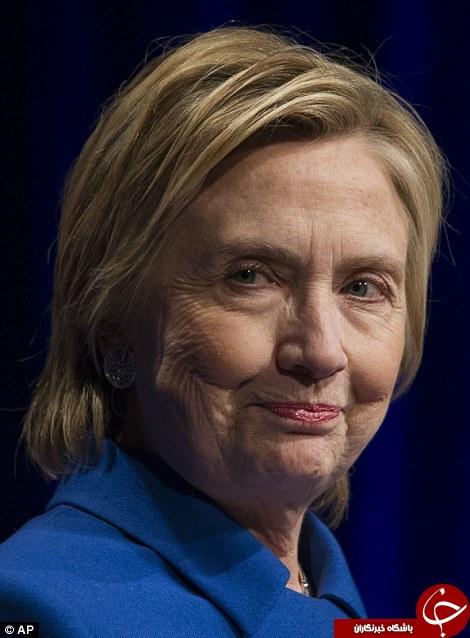 تفاوت آشکار چهره هیلاری کلینتون قبل و پس از انتخابات +تصاویر