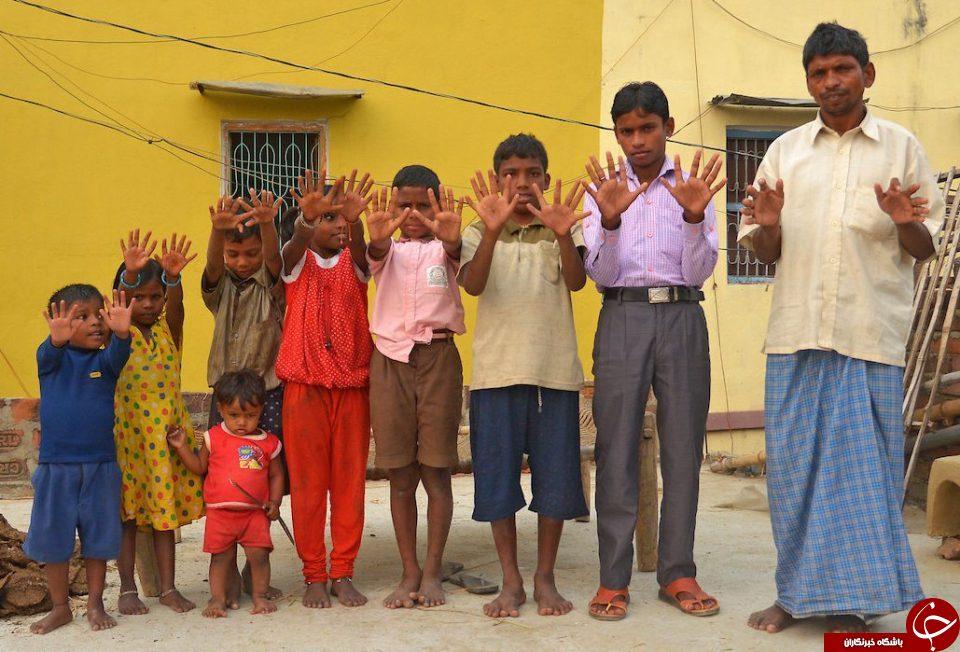 خانواده عجیب 600 انگشتی هندی + تصاویر