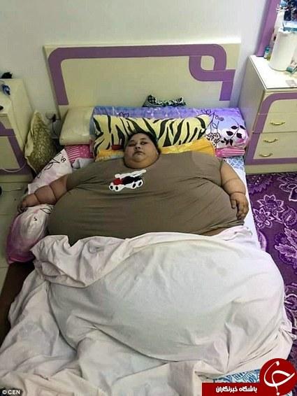 تصاویر از چاق ترین زن دنیا در مصر