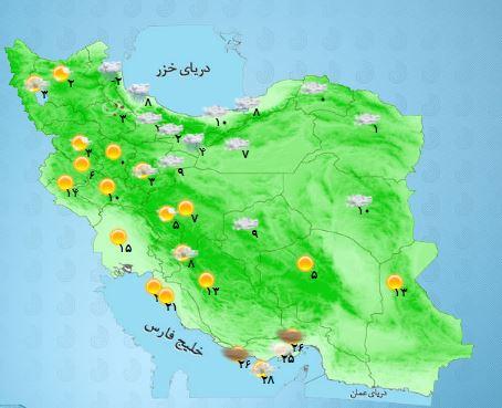 کاهش محسوس دمای هوای استان کرمانشاه/ماندگاری هوای سرد تا پایان هفته