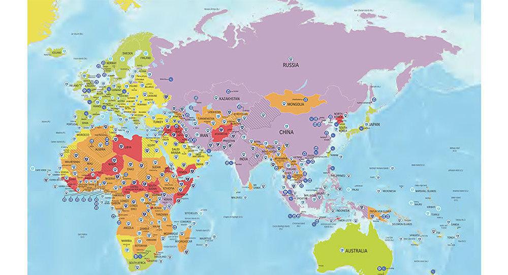 خطرناکترین کشورها برای سفر در سال 2017