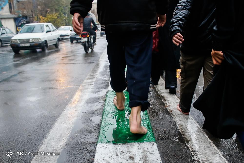 پیادهروی جاماندگان اربعین حسینی در تهران