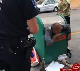 باشگاه خبرنگاران -عجیبترین عملیات نجات در سطل زباله +تصاویر