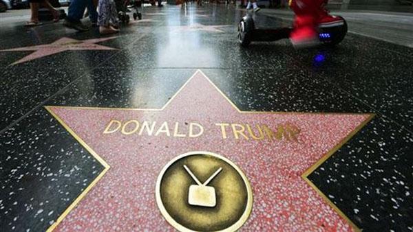 تخریب ستاره ترامپ در بلوار مشاهیر هالیوود