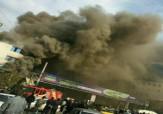 باشگاه خبرنگاران - آتش سوزی در ساختمان کفش ملی ساری + فیلم