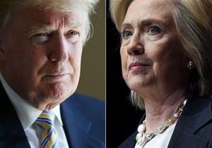 اختلاف ترامپ و کلینتون تنها به یک درصد رسید