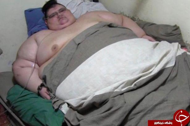 با چاق ترین مرد جهان آشنا شوید+ تصاویر