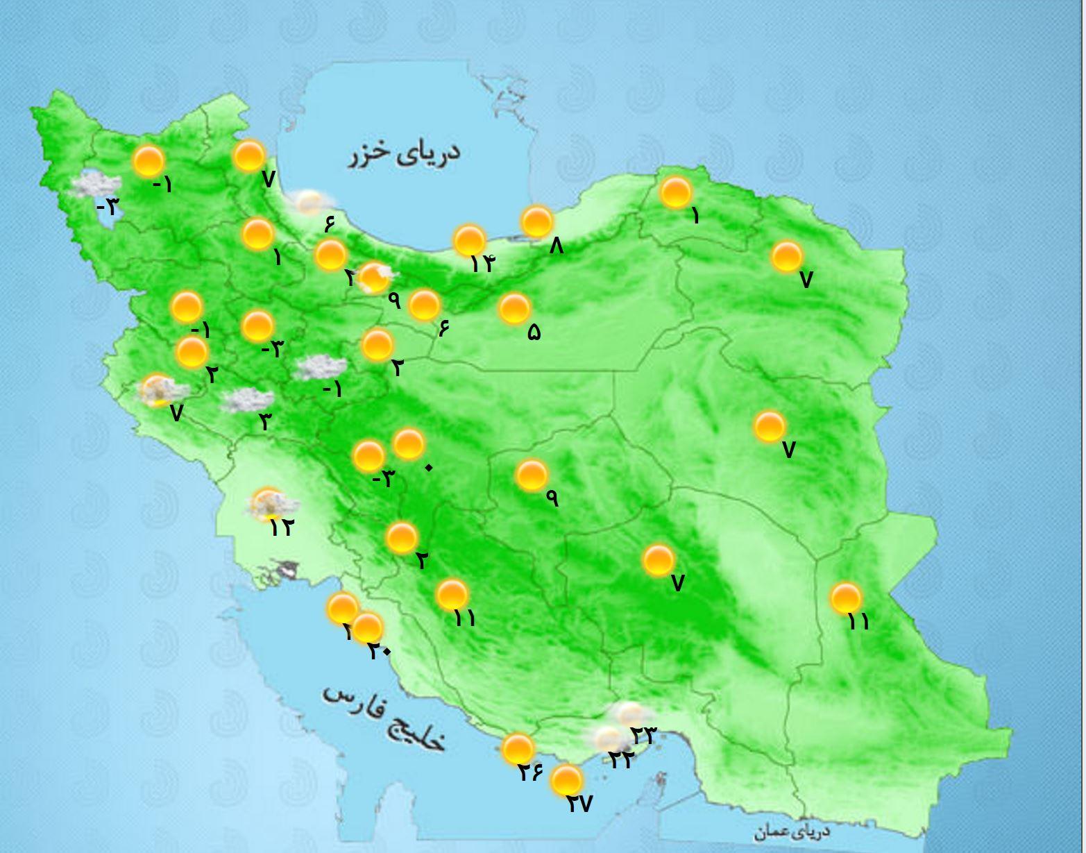 ورود سامانه بارشی جدید از امروز/خلیج فارس مواج خواهد شد+جدول