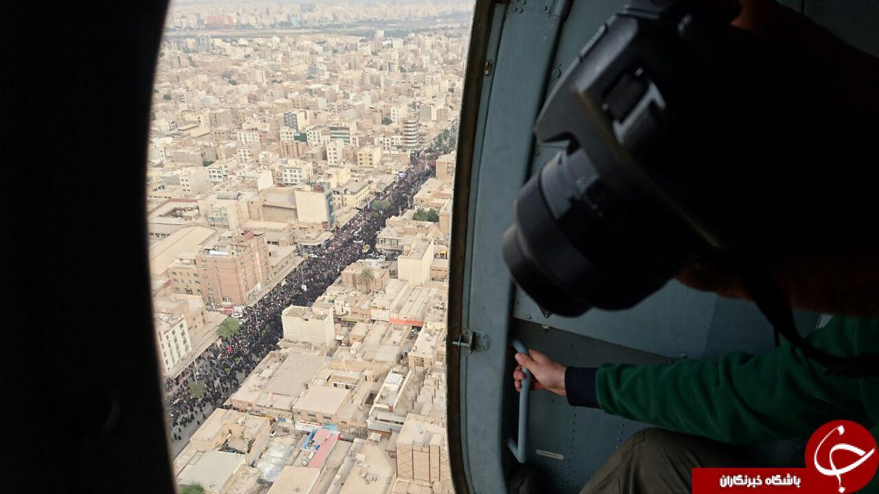 تشییع با شکوه شهدای فاجعه حله + تصاویر