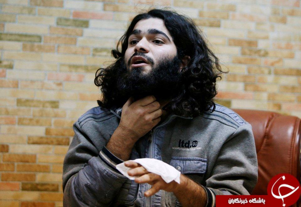 احظه دستگیری یک داعشی به همراه عکسو  فیلم