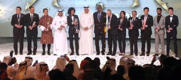 حسن زاده بهترین بازیکن فوتسال آسیا/ عمر عبدالرحمن برترین بازیکن سال ۲۰۱۶ قاره کهن شد + گزارش تصویری