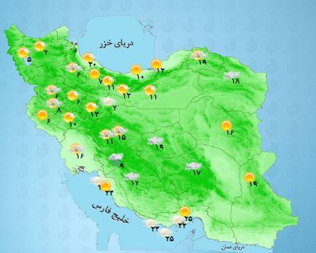 باراش باران و برف در کدام استان ها رخ می دهد ؟