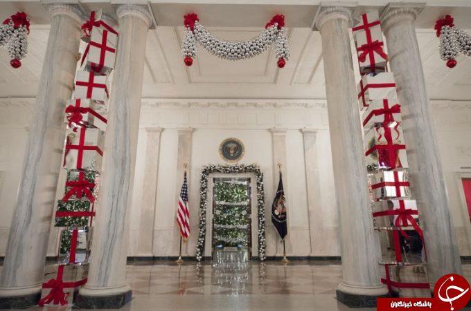 میشل اوباما کاخ سفید را برای آخرینبار تزیین کرد+ تصاویر