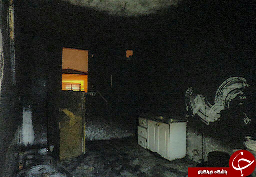 یک یخچال خانه را به آتش کشید+تصاویر