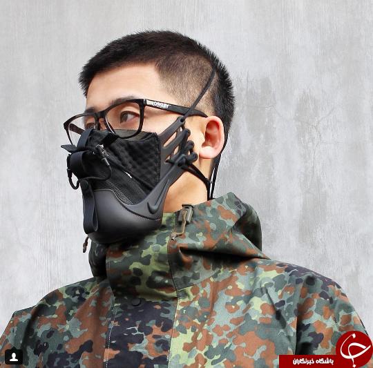 وقتی کفش کتانی ورزشی تبدیل به ماسکی برای آلودگی هوا شود + تصاویر