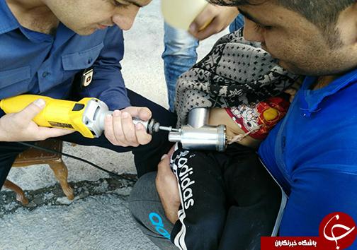 چرخ گوشت، دستان کودک 3 ساله را بلعید+تصاویر