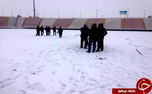 بارش برف بازی را هم لغو کرد+عکس
