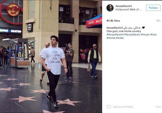 پیام فرزاد فرزین در هالیوود