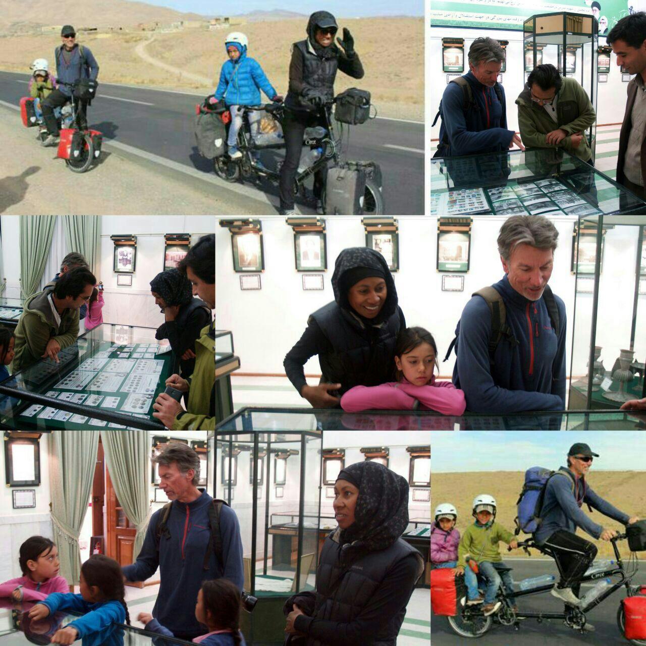 بازدید خانواده گردشگر استرالیایی از موزه شهید مدرس