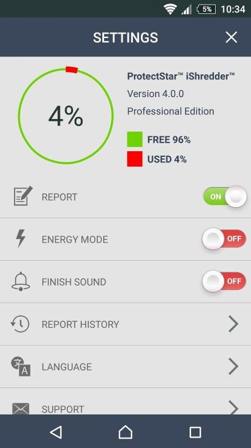 حذف غیرقابل بازیابی فایل ها با دانلود iShredder 4 Professional برای اندروید