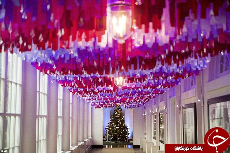 آخرین کریسمس بانوی اول آمریکا, آخرین کریسمس در کاخ سفید , تصاویر تریین کریسمس , کاخ سفید اوباما در کریسمس