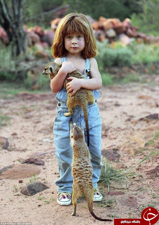 این دختر بچه ترسناکترین دوستان جهان را دارد +تصاویر