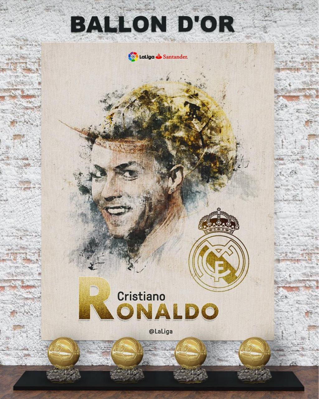 توپ طلا برای چهارمین بار به رونالدو رسید
