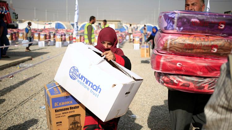 ورود نخستین محموله کمکهای انساندوستانه اتحادیه اروپا به موصل