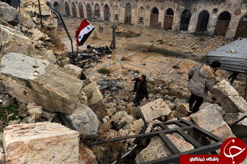 مسجد بزرگ اموی حلب پیش و پس از آزادسازی+ تصاویر