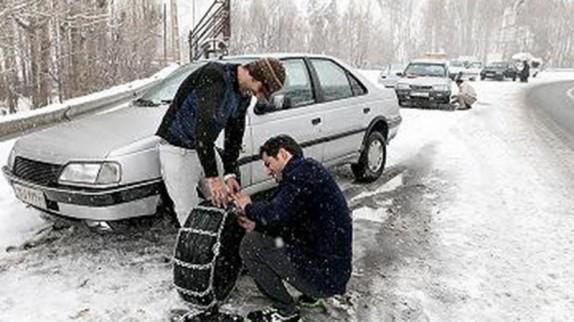 ممنوعیت تردد خودروهای بدون زنجیر در محورهای استان زنجان