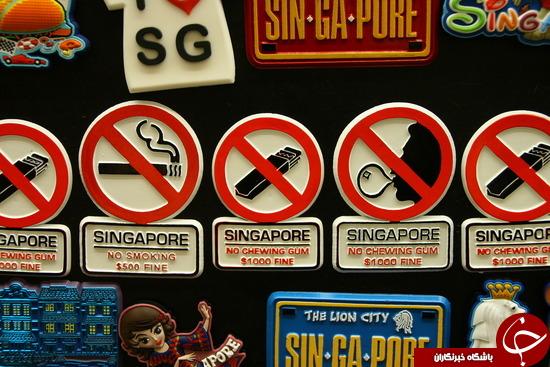 چرا خرید و فروش آدامس در سنگاپور ممنوع است؟