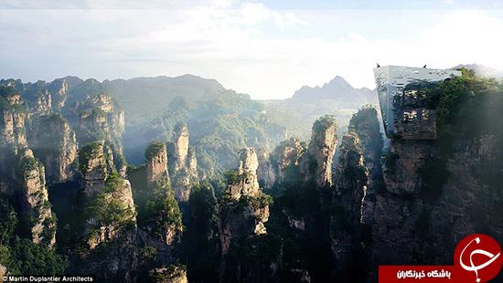 ساخت پل نامرئی در چین +تصاویر