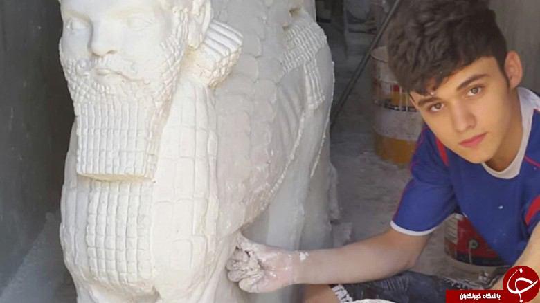 نوجوانی که با هنر مجسمهسازیاش به جنگ داعش رفته است+ تصاویر