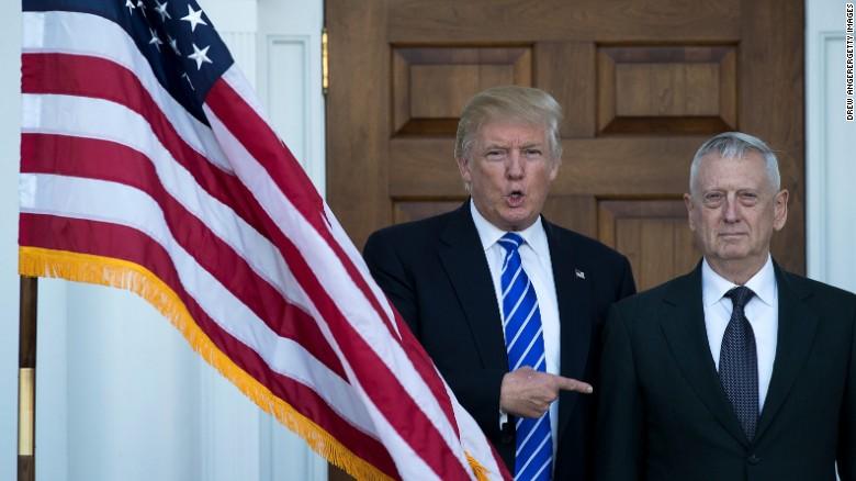 """""""جیمز ماتیس"""" گزینه ترامپ برای وزارت دفاع آمریکا"""