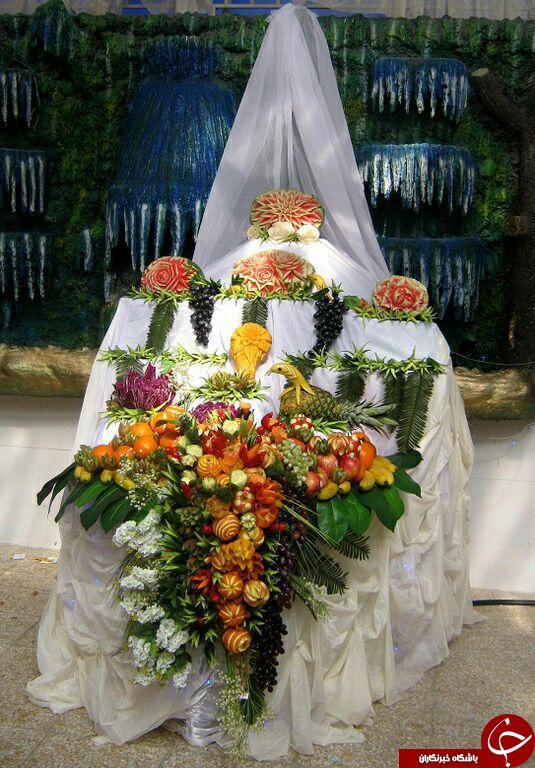طَبَق پیش کشی 18میلیونی تازه عروس برای شب یلدا+ عکس