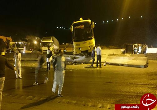 18 کشته و زخمی در تصادف زنجیره ای محور شیراز-مرودشت شیراز+تصویر
