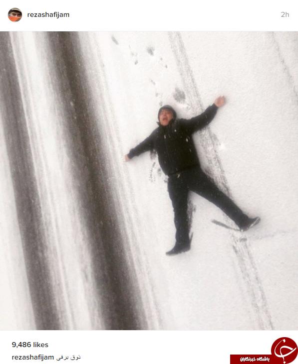 ذوق مرگ شدن شفیعیجم در برف تهران