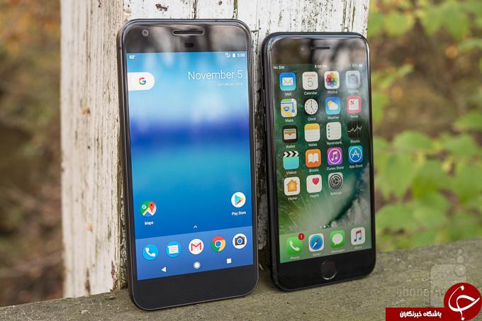 مقایسه گوشی آیفون 7 و گوشی گوگل پیکسل