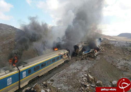 برخورد دو قطار در ایستگاه هفت خوان سمنان+آخرین جزییات و تصاویر و فیلم