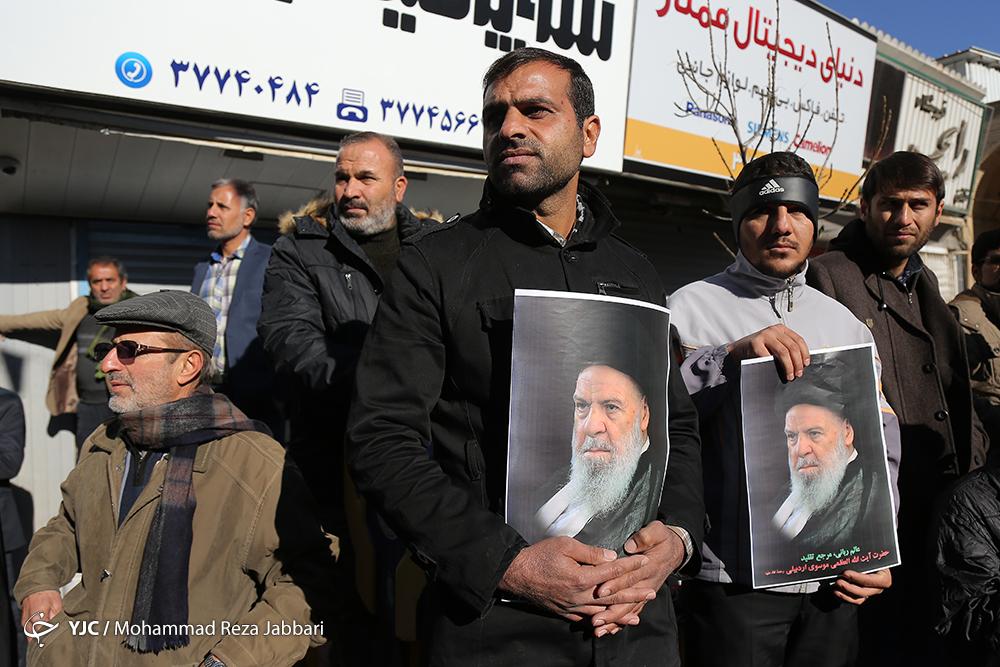 روضه خوانی محمود کریمی در مراسم ترحیم سلیم موذنزاده