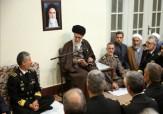 باشگاه خبرنگاران -جمعی از فرماندهان و مسئولان نیروی دریایی ارتش جمهوری اسلامی ایران با رهبر معظم انقلاب  دیدار کردند