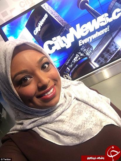 اولین گوینده زن محجبه جلوی دوربین تلویزیون کانادا رفت +تصاویر