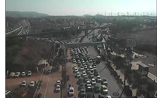 ترافیک نیمه سنگین در آزادراه کرج- قزوین