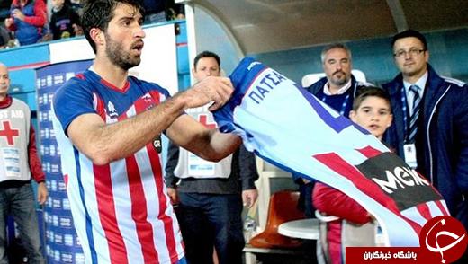 کار تختیوار انصاری فرد بعد گلزنی در لیگ یونان